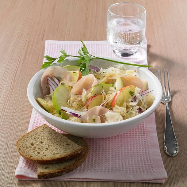 Apfel-Sauerkraut-Salat (Diät) Rezept