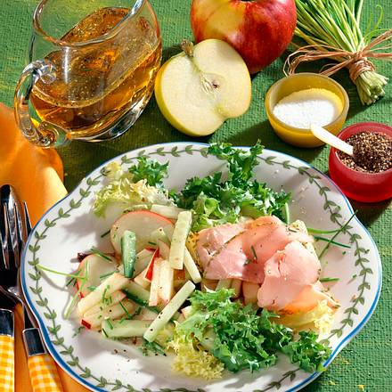 Apfel-Schinkensalat Rezept