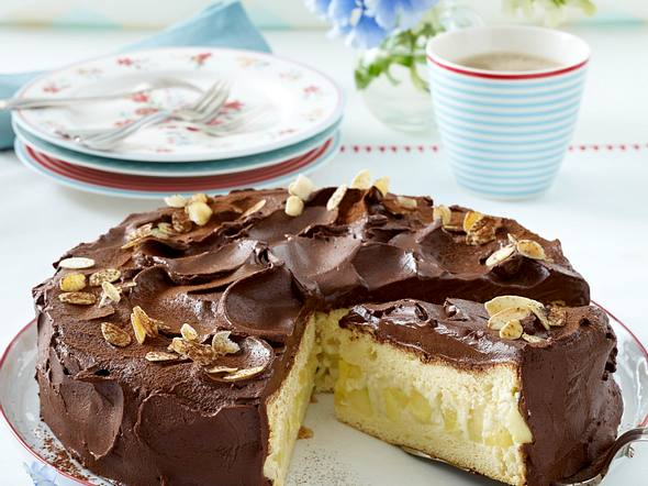 Apfel-Schokoladen-Torte Rezept