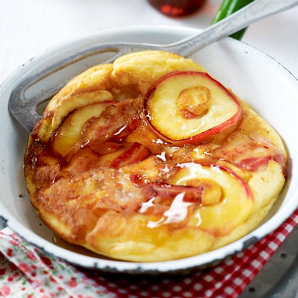 Apfel-Speck-Pfannkuchen Rezept