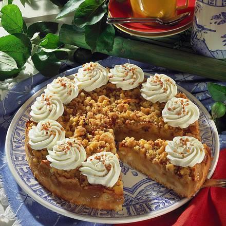 Apfel-Streuselkuchen mit Krokant Rezept