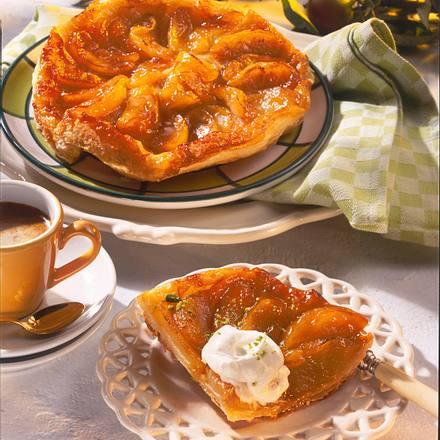 Apfel-Tarte mit Blätterteig Rezept
