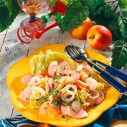 Apfel-Wurst-Salat Rezept