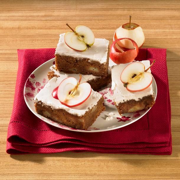 Apfelbrownies mit Zimtglasur Rezept