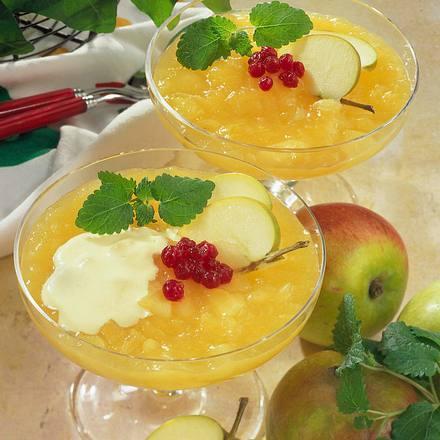 Apfelgrütze mit Vanillesoße Rezept