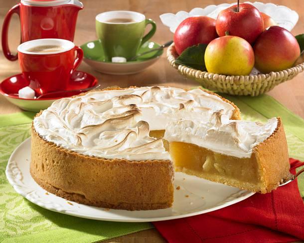 Apfelkompott-Kuchen mit Baiserhaube Rezept