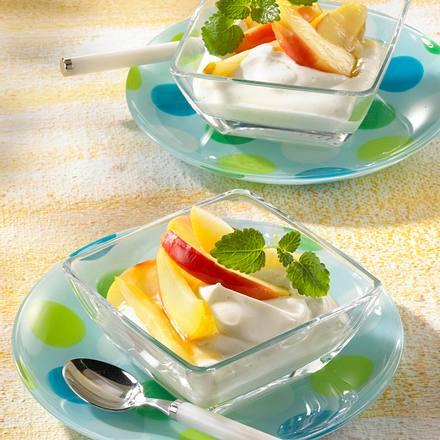 Apfelkompott mit Vanillequark Rezept