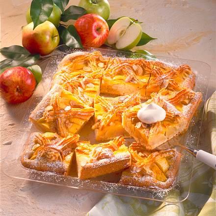 Apfelkuchen mit Makronengitter Rezept