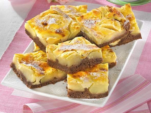 Apfelkuchen mit Mascarpone-Guss Rezept