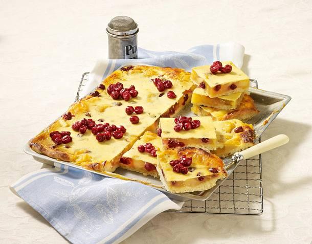 Apfelkuchen mit Quarkguss Rezept
