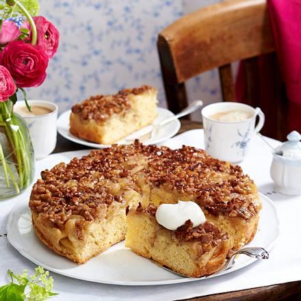 Apfelkuchen Mit Walnuss Karamell Haube Tarte Tatin Rezept Lecker