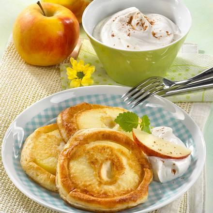 Apfelküchlein mit Zimtquark Rezept