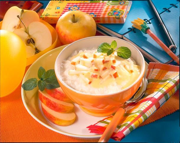 Apfelmilchreis mit Vanille-Joghurt Rezept