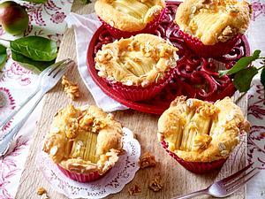 Apfelmuffins mit Walnuss-Crunch Rezept