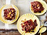 Apfelmus-Brownies mit Cranberry und Cornflakes-Crunch Rezept