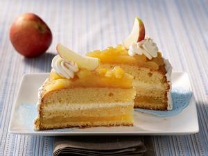 Apfelmus-Sahne-Torte Rezept