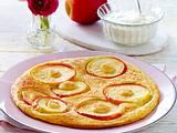 Apfelpfannkuchen mit Schmand-Vanille-Creme Rezept