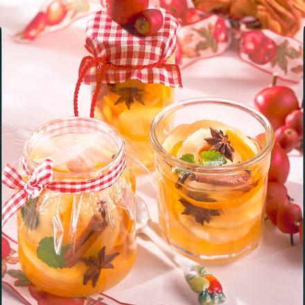 Apfelringe in Calvados Rezept