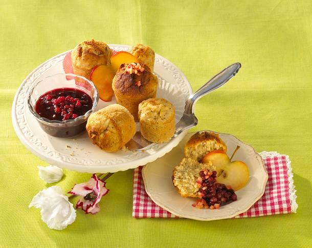 Apfeltörtchen mit Preiselbeeren Rezept