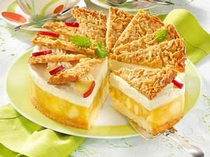 Apfeltorte mit Bienenstichfächern Rezept