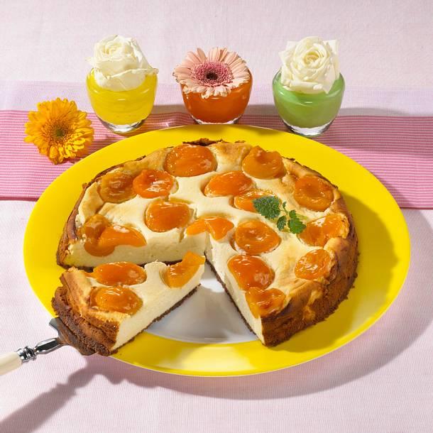Aprikose-Cookies-Käsekuchen Rezept