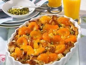 Aprikosen-Brioche-Auflauf Rezept