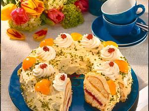 Aprikosen-Buttercreme-Kranz (Diabetiker) Rezept