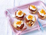 Aprikosen-Cupcakes mit Cheesecake-Swirl Rezept