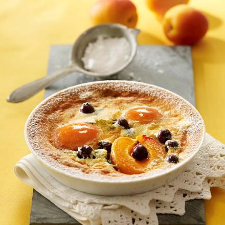 Aprikosen-Heidelbeer-Clafoutis Rezept