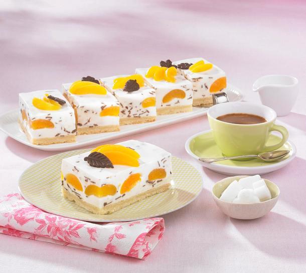 Aprikosen-Joghurt Schnitten Rezept