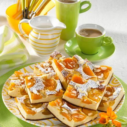 Aprikosen-Käsekuchen vom Blech Rezept