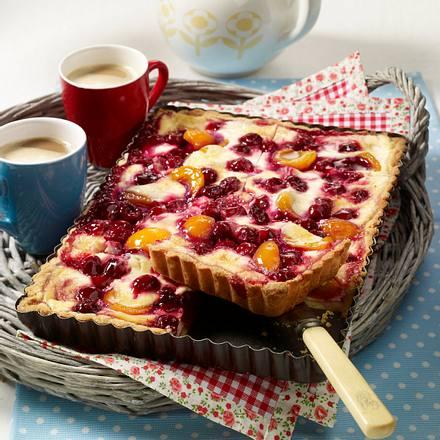 Aprikosen-Kirsch-Tarte Rezept