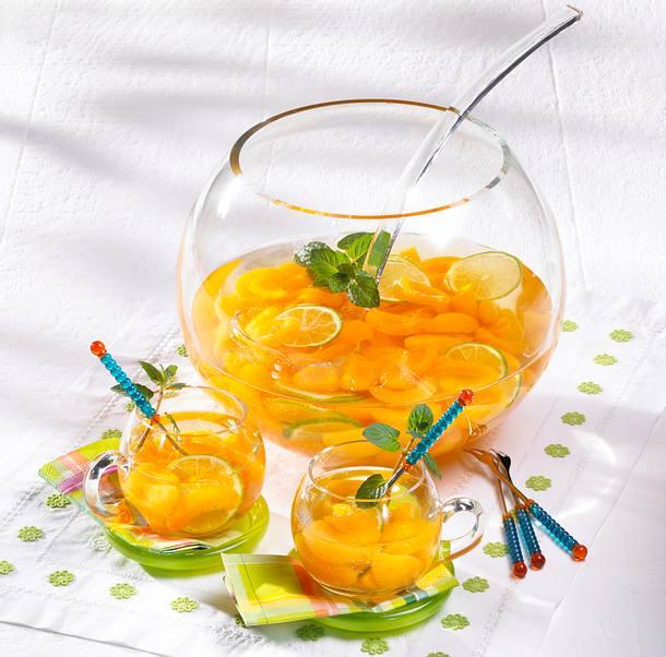 Aprikosen-Limetten-Bowle Rezept