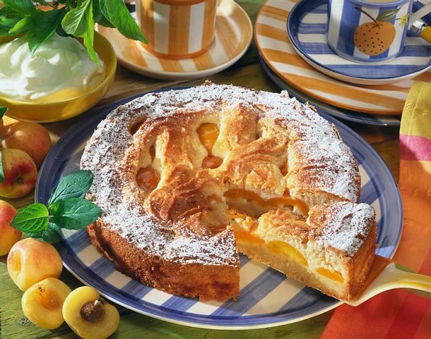 Aprikosen-Mandel-Marzipan-Kuchen Rezept