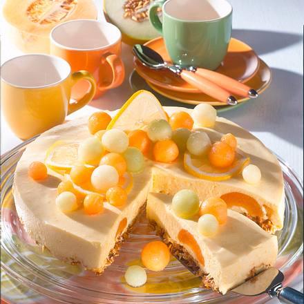 Aprikosen-Melonen-Torte (mit Frischkäse) Rezept