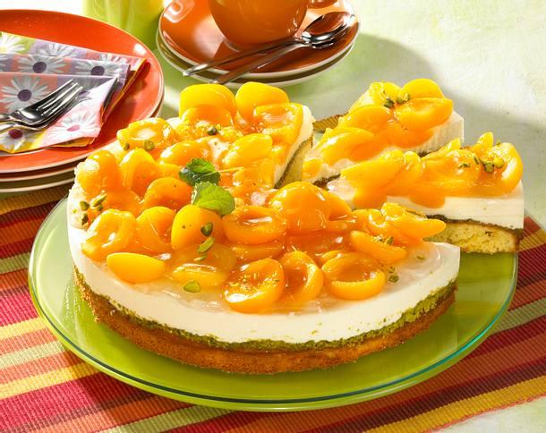 Aprikosen-Pistazientorte Rezept