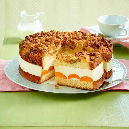 Aprikosen-Quark-Torte mit zweierlei Streuseln Rezept