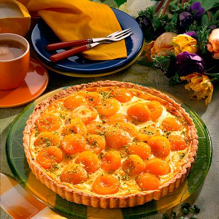 Aprikosen-Schmand-Tarte Rezept