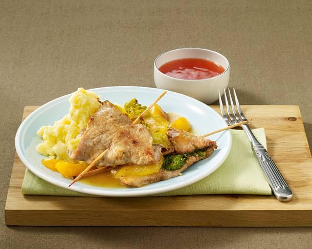 Aprikosen-Sellerie-Schnitzel Rezept