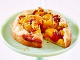 Aprikosen-Tarte-à-Tarte mit Himbeeren Rezept