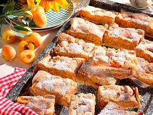 Aprikosenkuchen mit feiner Brotkruste Rezept