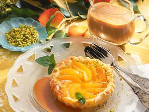 Aprikosentörtchen mit Karamellsoße Rezept