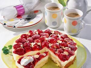 Aranca-Joghurt-Torte mit Erdbeeren Rezept