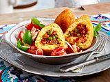 Arancini di riso  con insalata di pomodoro Rezept