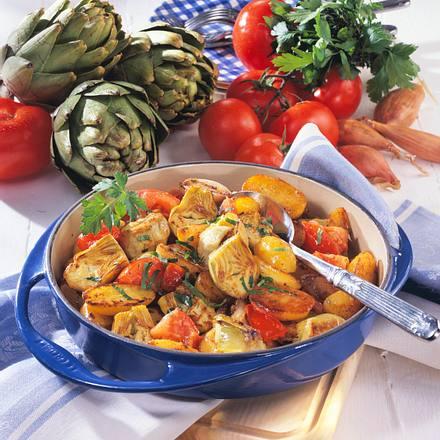 Artischocken-Kartoffelpfanne Rezept