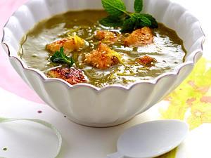Artischocken-Spinat-Suppe mit gebratenem Sesamfisch Rezept