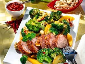 Asia-Broccoli zu Entenbrust Rezept