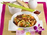 Asia-Hähnchen süßsauer Rezept