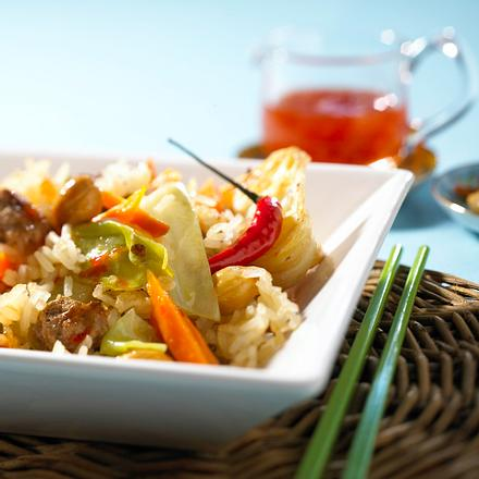 Asia-Reis-Pfanne Rezept