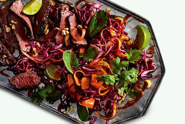 Asia-Rotkohl-Salat Rezept